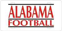 Alabama Football-Silver-Red-Black License Plate