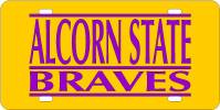 Alcorn State Braves License Plate