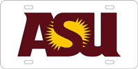 ASU Laser Cut License Plate