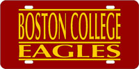 BC Garnet-Gold License Plate