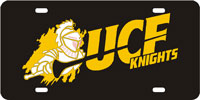 UCF-Knight-Black License Plate