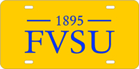 Fort Valley State-F.V.S.U. - Gold-Blue License Plate