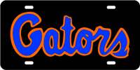 GATORS Black-Orange-Blue License Plate