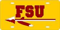 Florida State University-FSU Spear Gold-Garnet License Plate