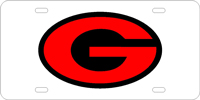 060027 Georgia, University of - G Oval Silver-Black-Red