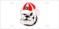 060102 Georgia, University of - Bulldog Face Silver-Red-Black