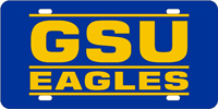 Georgia Southern University - GSU Eagles Blue-Yellow License Plate