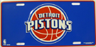 Detroit Pistons License Plate