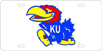 Kansas Jayhawks Silver Blue Red