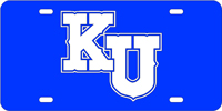 Kansas University - KU Blue-Silver License Plate