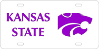 Kansas State University - Silver-Purple License Plate