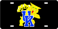 Kentucky, University of - UK Wildcat Black-Blue License Plate