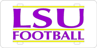109511 Louisiana State University - LSU Football Silver-Yellow-Purple