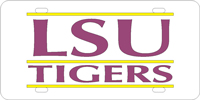 109801 Louisiana State University - LSU Tigers Silver-Yellow-Purple
