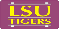 109818 Louisiana State University - LSU Tigers Purple-Yellow-Silver