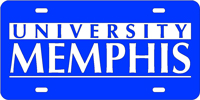Memphis, University of - University Memphis Blue-Silver License Plate