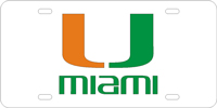 123012 Miami, University of - U Miami Silver-Green-Orange