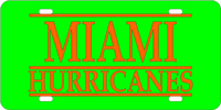123111 Miami, University of - Miami Hurricanes Green-Orange