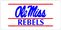 125009 Mississippi, University of - Ole Miss Rebels Silver-Blue-Red