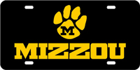 128031 Missouri University - MIZZOU Paw Black-Amber