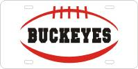 136104 Ohio State University - Buckeyes Pigskin License Plate