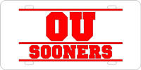 140071 Oklahoma University - OU Sooners Bars Silver-Red
