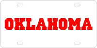 Oklahoma University - OKLAHOMA Silver-Red License Plate