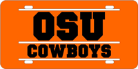 141030 Oklahoma State University - OSU Cowboys Orange-Black-Silver