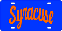 Syracuse - Syracuse Blue-Orange License Plate