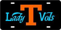 Tennessee, University of - Lady Vols Black-Orange-Blue License Plate