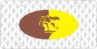 Pitt State kansas - Gorilla Head License Plate