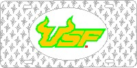 620337 South Florida, University of - USF Horns Diamond Plate