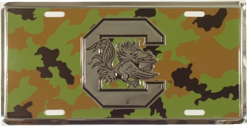 LP-1027 SC South Carolina Gamecocks Chrome - Camo License Plate - SUP50126
