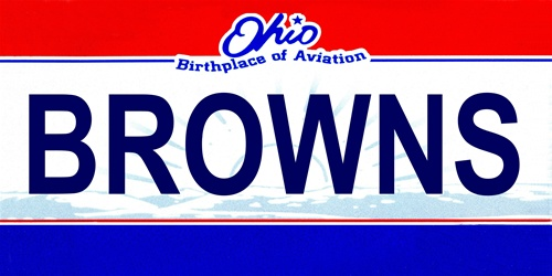 LP-2056 Ohio State Background License Plates - Browns