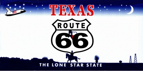 Route 66 Texas License Plate