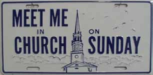 LP-246 Meet Me in Church on Sunday License Plate - 20