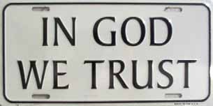 LP-261 In God We Trust License Plate - 74