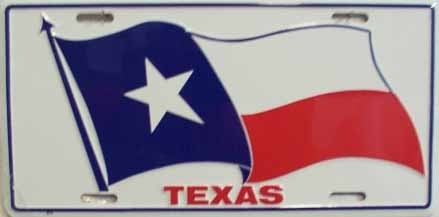 Texas Flag License Plate