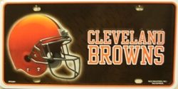 LP-743 Cleveland Browns NFL Football License Plate - 2801M