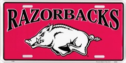 LP-846 Arkansas Razorbacks College License Plate - A2108