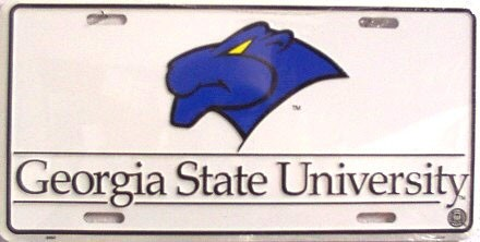 LP-857 Georgia State University License Plate - 2093