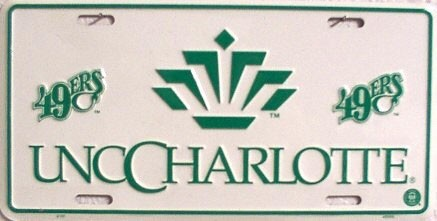 LP-863 North Carolina Charlotte License Plate - 2101
