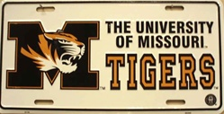 LP-864 Missouri Tigers License Plate - 2119