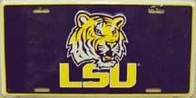 LP-867 LSU Tigers License Plate - 2145