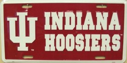 LP-871 Indiana Hoosiers License Plate - 2281