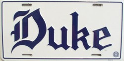 LP-885 Duke License Plate - 407