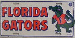 LP-886 Florida Gators License Plate - 408