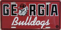 LP-888 Georgia Bulldogs License Plate - 412