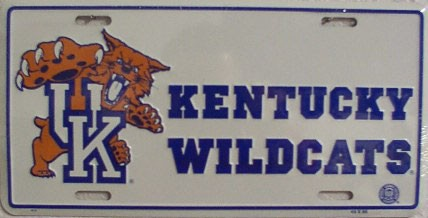 LP-889-2LP-889 Kentucky Wildcats License Plate - 414