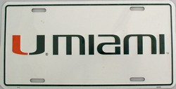 LP-890 Miami Hurricanes License Plate - 417